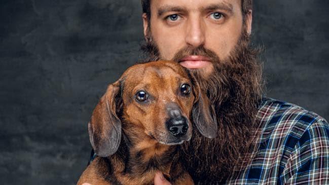 Sakallı Erkek ve Köpek